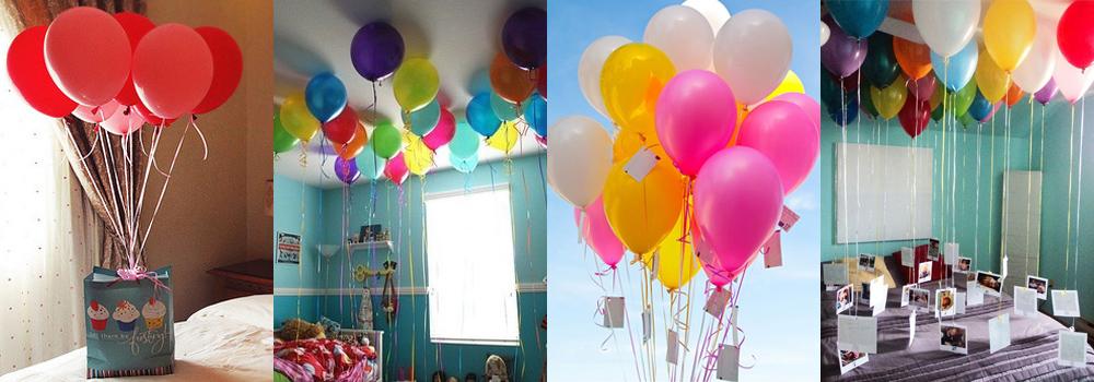 Поздравления с воздушными шарами